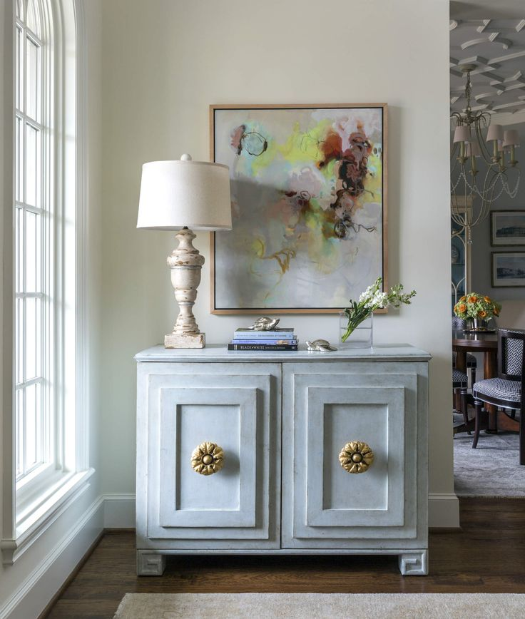Fort Worth Georgian | Southern Home Magazine | Entry | Abstract Art |  Tranquil | Serene. Interior Design ...