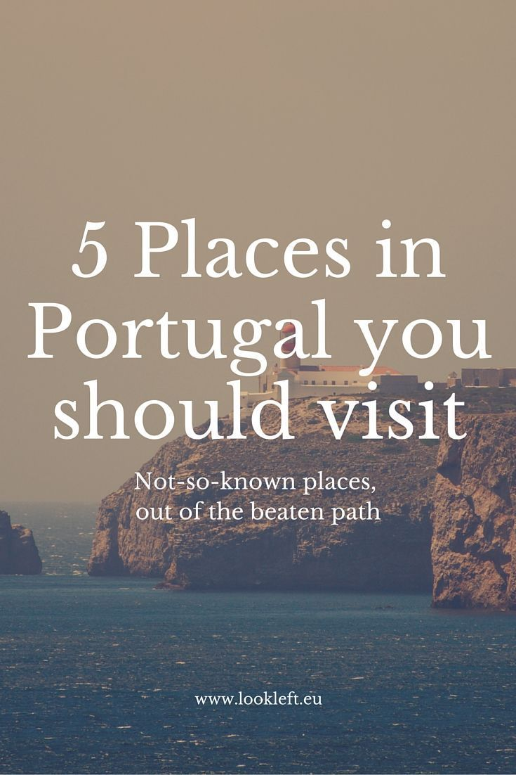 5 lesser known places you should visit in #Portugal #campingcar