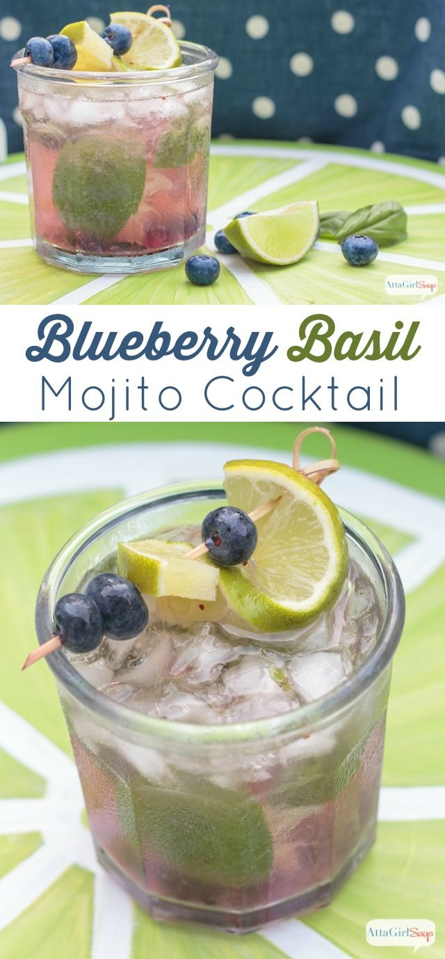 Blueberry Basil Mojito Recipe
