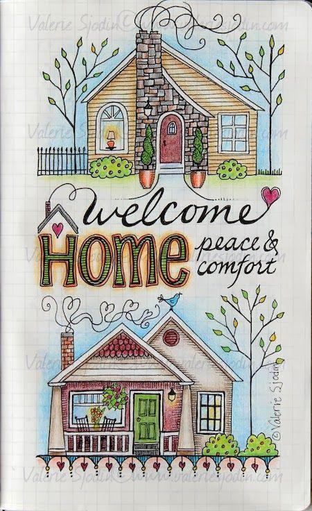 visual blessings, 1. Home Sweet Home in Moleskine journal