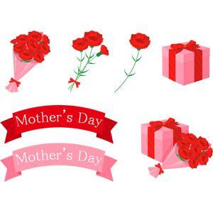 フリーイラスト ベクター画像 Ai 年中行事 母の日 5月 植物 花