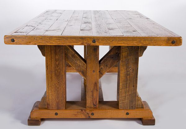I like a big giant slab-wood table that looks like it was built when guns were the predominate voice in Western North America. The finish is beautiful and hardy, and it's huge and heavy. Love. It.