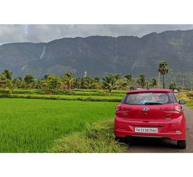 Somewhere In Kerala Hyundai Elitei20 Red Falls Mountains Farm Kerala Instagram Hyundai