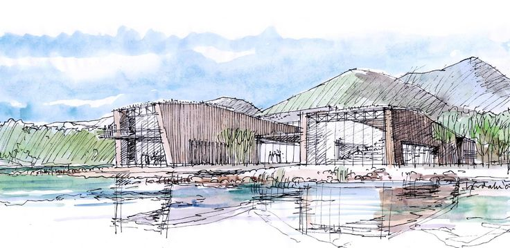 Villreinsenter. Arkitekt: Janicke Jebsen Vinje og Jan Egil Løvdahl