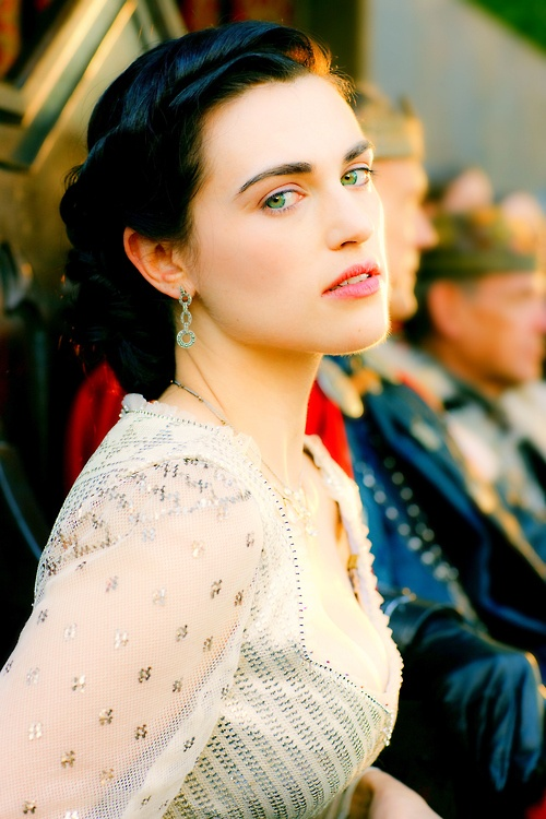 "Beautiful and she knows it (Katie McGrath) -""My lady wife is as sad as she is beautiful. I've only seen her smile once, when she found out she was with child. And when she lost it she became even sadder. That's why I want you to stay in my court, troubadour, I don't appreciate music that much. But songs and poems have an ability to reach women's hearts, an ability men like me lack."" - Minnenlied"
