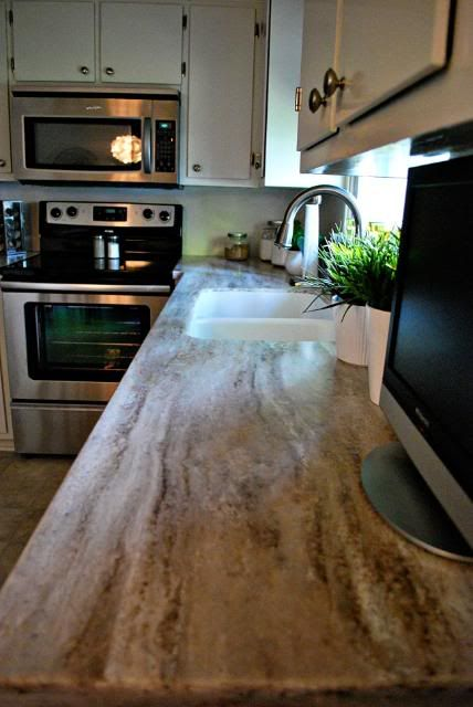 Sandalwood Corian Kitchen Countertop Love This Color With The Antique White Cabinets