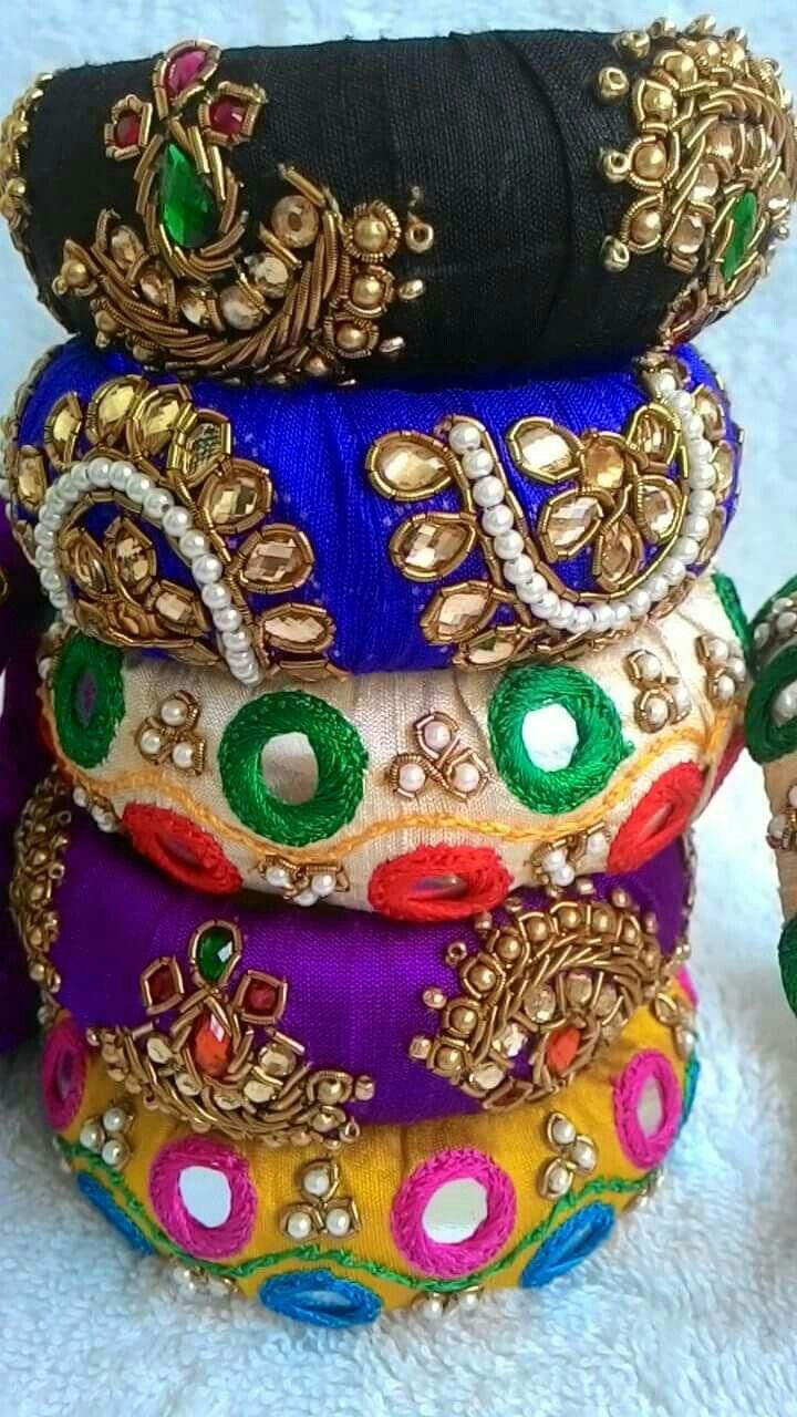 Indian hand beaded bangles