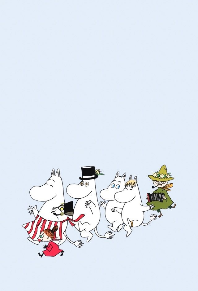 "homilks: ""moomin wallpapers !! + more ✧ pls feel free to use the wallpapers for your own personal use, thank you! """