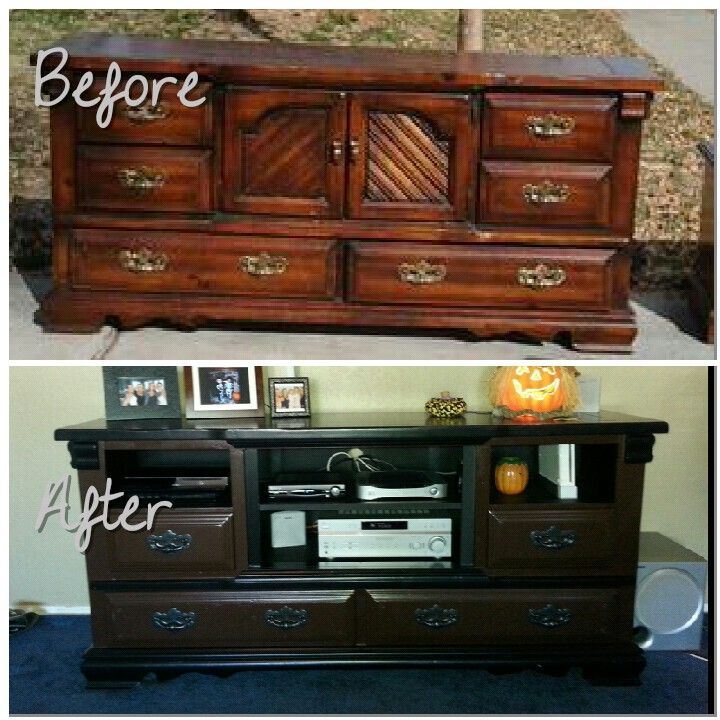 Diy dresser entertainment center