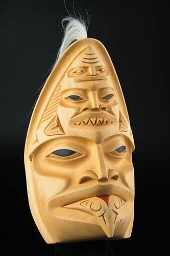 Shark Mask by Dempsey Bob, Tahltan, Tlingit artist (X30701)