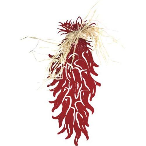 Chili Ristra Transparent Red Steel Wall Art Lazart Production Wall Sculpture Wall Decor Ho