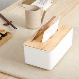 Scandinavian Designer Tissue Box Holder w Phone Holder