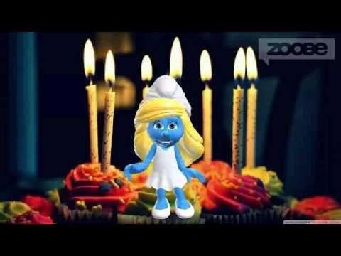 Alles liebe gute zum Geburtstag...... ♥ Schlumpf & Schlumpfine - Smurf & Smurfette - YouTube