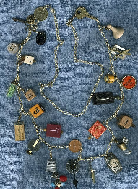 Found Objects Jewelry Workshop necklace by takeabreak, via Flickr