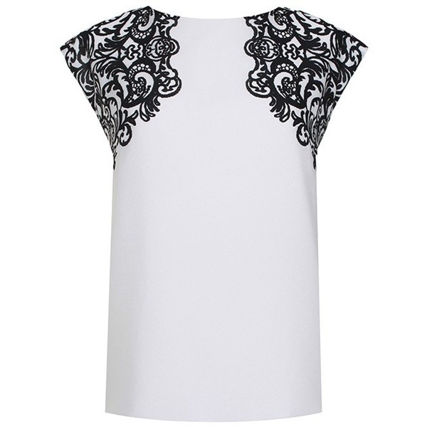 Evelyn Sleeveless Top ($280) ❤ liked on Polyvore