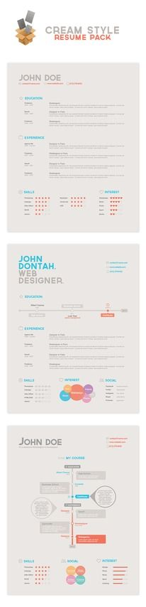 The 25+ best Cool resumes ideas on Pinterest Graphic designer CV - most creative resumes