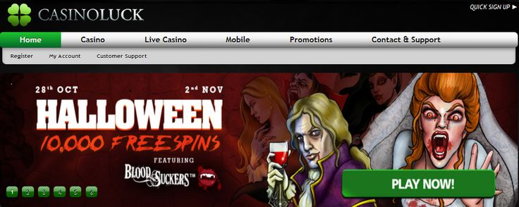 10000 free spins until 2nd November for Blood Suckers at CasinoLuck. Claim your bonus now http://tinyurl.com/lekz9rd ♥