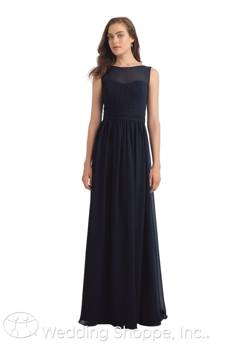Best 25 bill levkoff bridesmaids long ideas on pinterest bill shop the bill levkoff 1114 bridesmaid dress this long and flowing chiffon gown features a high bateau illusion neckline flattering pleats and a classic ombrellifo Gallery