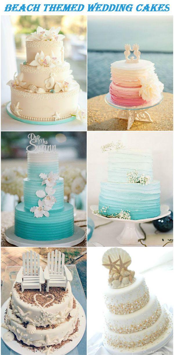... Beach wedding cakes, Beach themed wedding cakes and Beach theme cakes