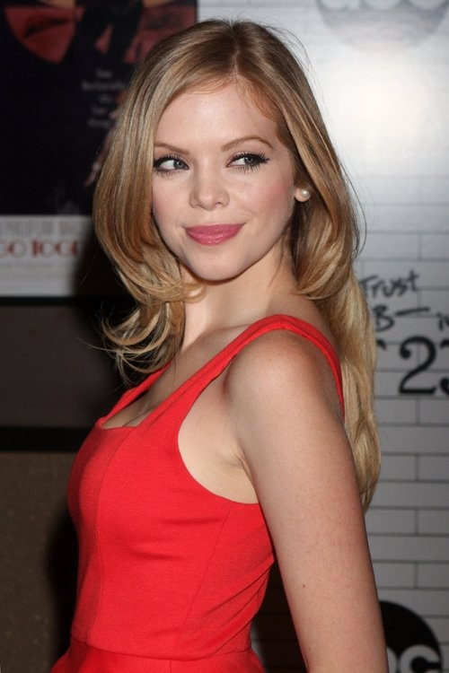 Dreama Walker. Love her hair and makeup.