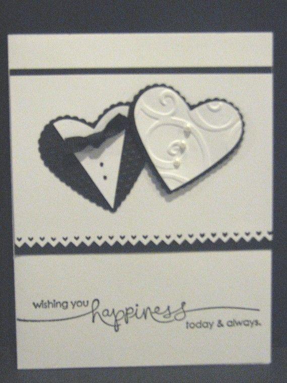 Wishing you Happiness Today and Always - Wedding - Handmade Greeting Card