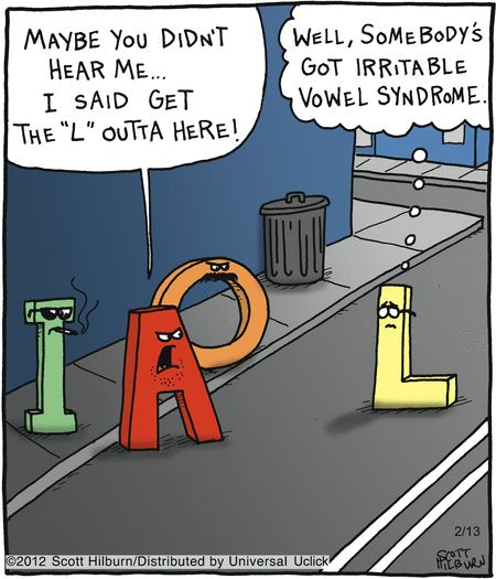 Pun | Irritable vowel syndrome