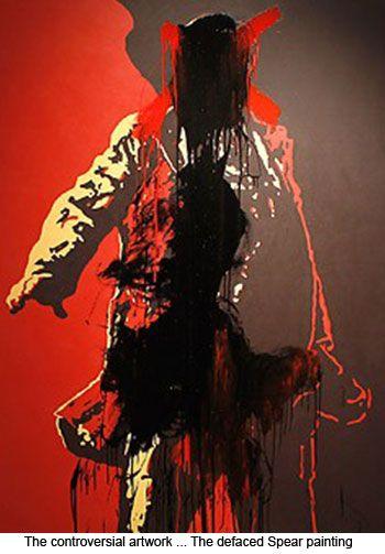 Spear by Brett Murray (defaced)