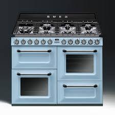 Image result for smeg blue oven white floor
