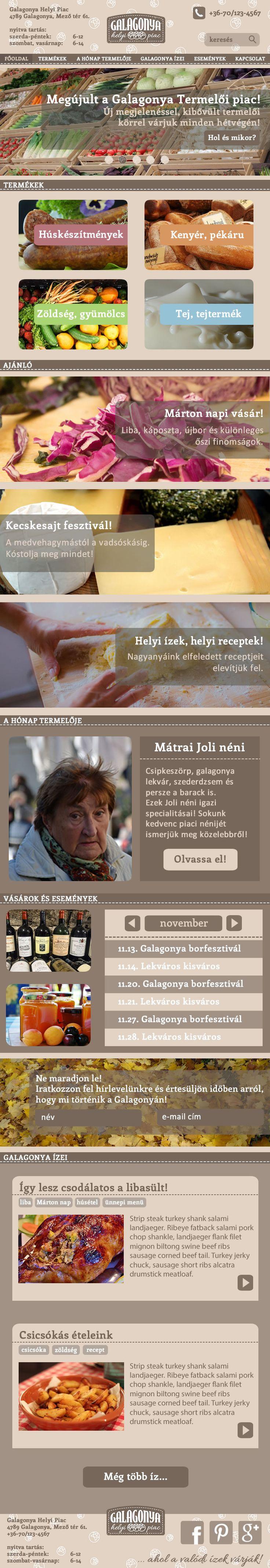 Dörnyei Barbara munkája - Galagonya Helyi piac gyakorlat 3. kör - Responsive webdesign - Tablet nézet ------------------------------------- Tanuld meg Te is! http://www.webdesigntanfolyam.com
