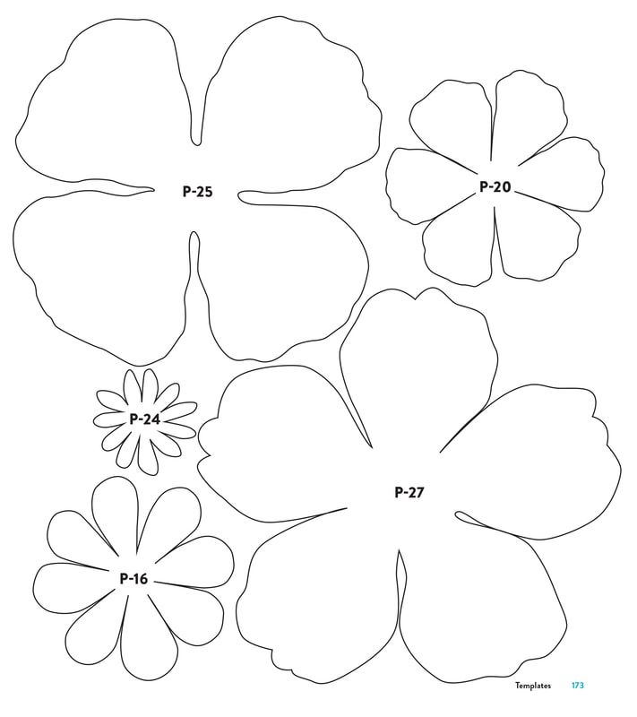 Paper flower templates from the book