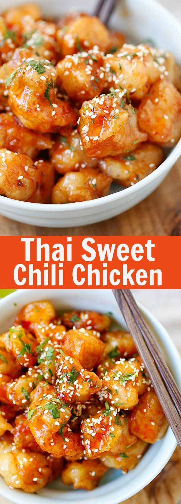 Thai Sweet Chili Chicken – amazing and best-ever chicken recipe with sticky sweet and savory sweet chili sauce. SO good |Thai Sweet Chili Chicken – amazing and best-ever chicken recipe with sticky sweet and savory sweet chili sauce. SO good |rasamalaysia.com