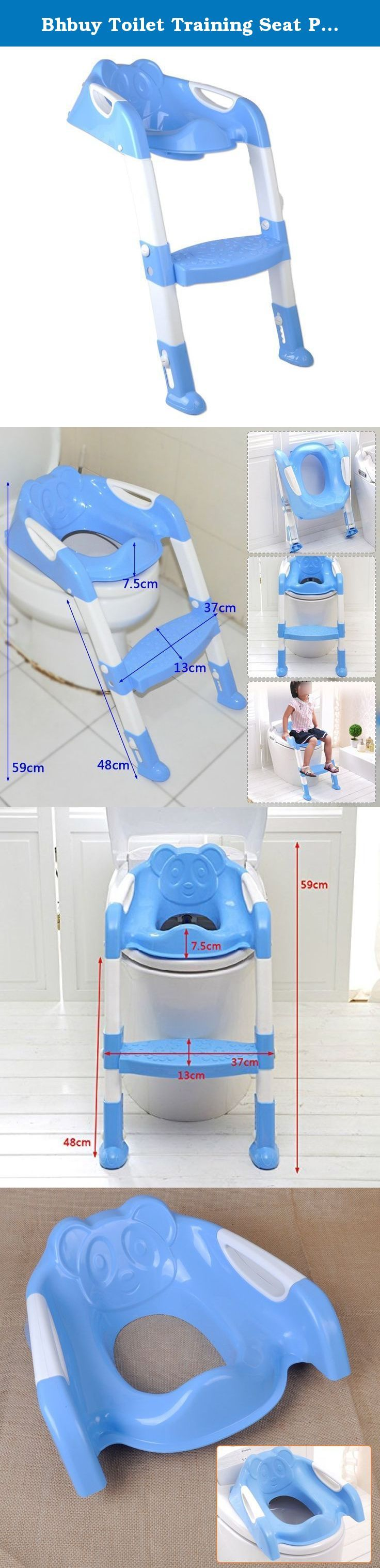 Bhbuy Toilet Training Seat Potty Chair Toddler Potty Trainer Folding Adjustable Kids Step Stool (Blue). Baby Steps easy folding toilet seat cover and step. Perfect for completing your little ones potty training, our toilet seat cover features a wide cushioned seat with splash guard and easy to grip no-slip handles perfect for even tiny hands. The extra wide step helps your child easily access your home toilet with ease and safety. Extra wide floor pads give the unit a firm and safe anchor...