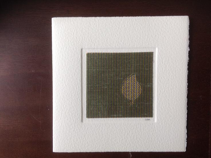MISU card design   green leaf silk