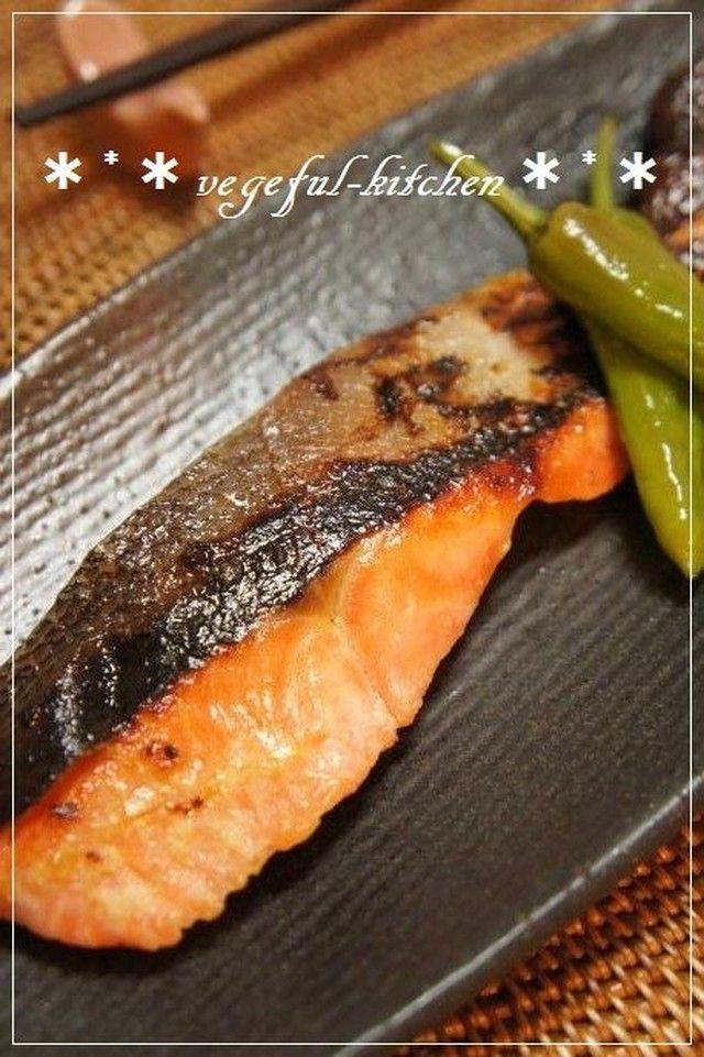 お花見弁当に❀柚子胡椒香る鮭の塩麹焼き