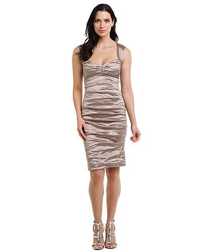 Nicole Miller Sand Metallic Ruched Dress Do you like?