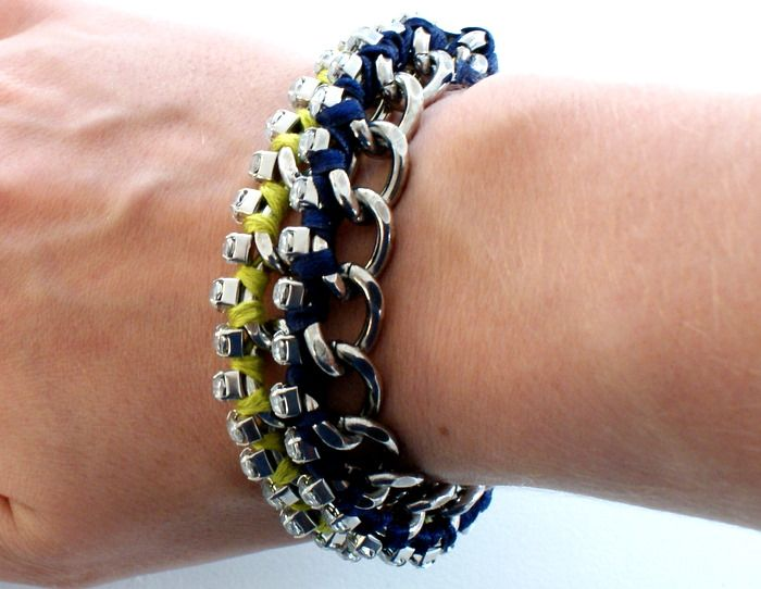 DIY Wrapped Diamante Bracelets by dismountcreataive #DIY #Bracelet #dismountcreative