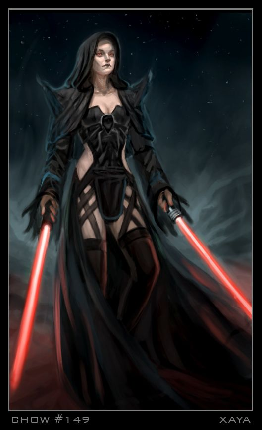 Female Sith Lord, love the shoulder spikes