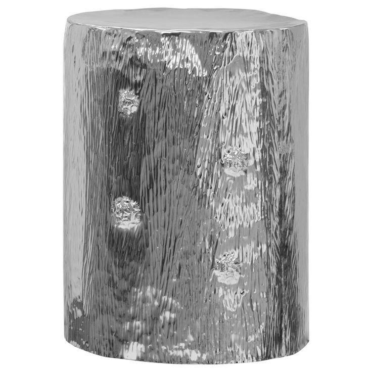 Atelier - Accent nordique - Table d'appoint en métal en forme de souche d'arbre / 13 PO (L) X 20 PO (H) X 13 (P) / 129,99 $ SKU 9379847