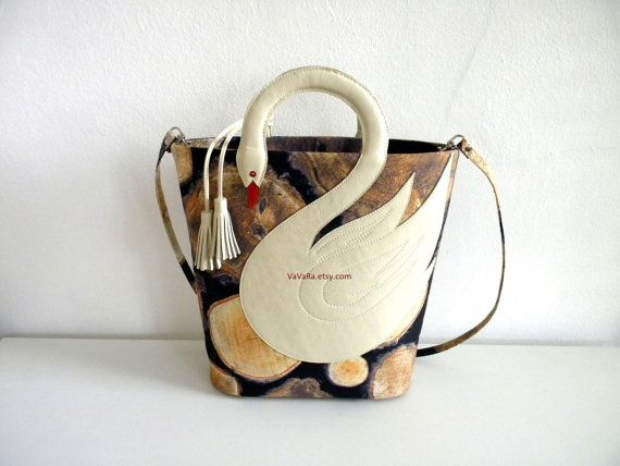 Branch Avenue Swan Bag by VaVaRa on Etsy, $78.00