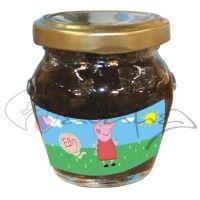 Βαζάκια με γλυκό του κουταλιού ή μαρμελάδα για βάπτιση με την αγαπημένη μας Πέππα και το όνομα του παιδιού σας μέσα σε μπαλόνι.   #glyko_peppa