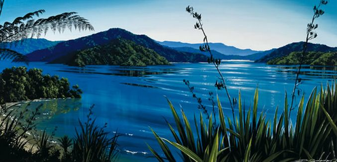 'Coastal Calm' transports you right there...Marlborough Sounds. by Dale Gallagher - artprints on paper and canvas. imagevault.co.nz