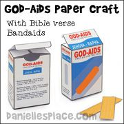 """""""God-Aids"""" craft idea --- band-aid container with memory verses inside"""