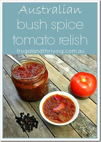 Delicious tomato chutney recipe that's a little bit different from the usual recipes. It includes Australian bush spices: bush tomatoes and pepperberries. Wow your friends with this inexpensive gift, that's if you don't just keep it for yourself :).