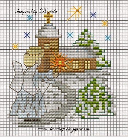 Haftem malowane: Kilka kartek i wzorów świątecznych