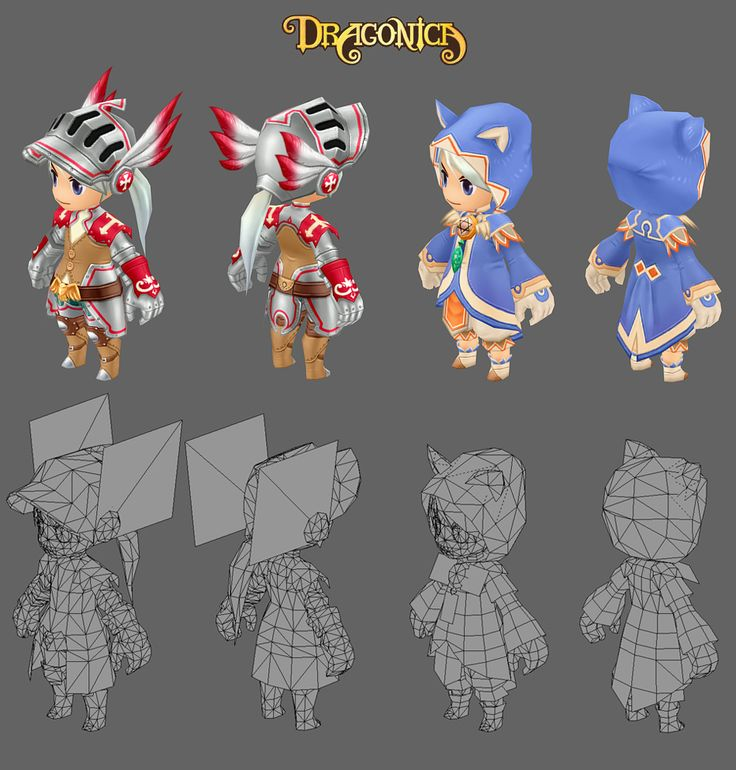 Draconica - low poly characters (Oh, so that's how they do law bending armor!)