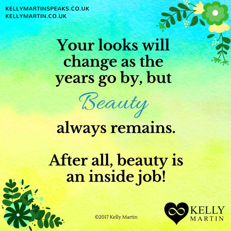 I used to date a narcissist. He thought he was gorgeous and believed his looks would carry him through life, but his inner beauty was seriously lacking. If we don't cultivate an inner beauty no amount of outer looks will make a difference in life, especially as we enter our more mature years. #quote #narcissism #beauty
