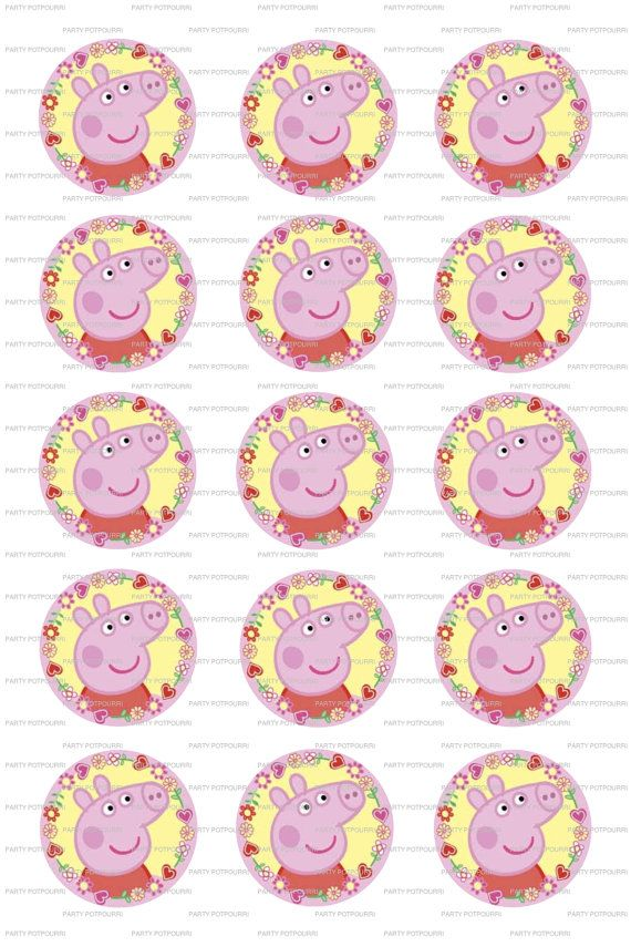 INSTANT DOWNLOAD  Peppa Pig  4x6 Digital File 1 by PartyPotpourri, $1.50