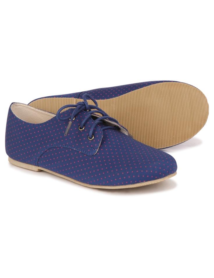 Derbies à pois shoes Monoprix