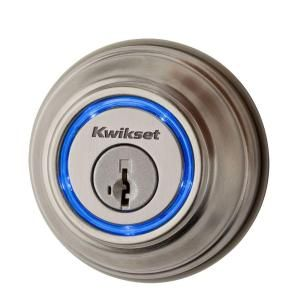Kwikset Kevo 2nd Generation Touch-To-Open Smart Lock Single-Cylinder Satin Nickel Electronic Deadbolt Featuring SmartKey 925 KEVO2 DB 15 at The Home Depot - Mobile
