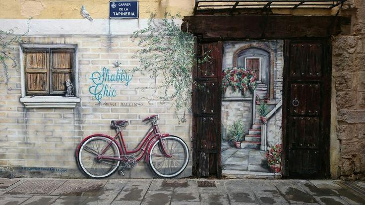 Muro pintado en Valencia